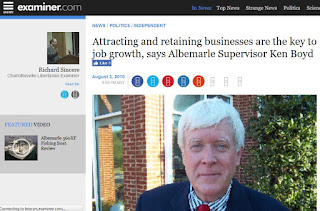 Examiner.com Albemarle County Virginia Supervisor Ken Boyd business commerce