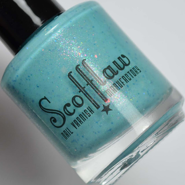 light blue shimmer nail polish