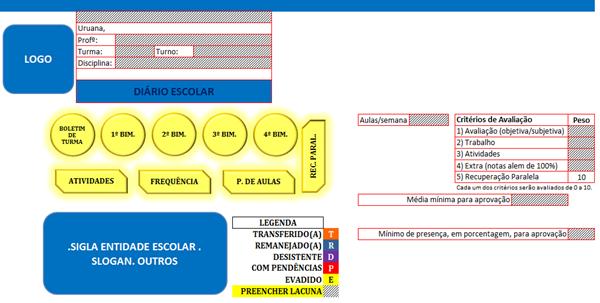 Confira este modelo de diário de classe estruturado em planilhas no Excel