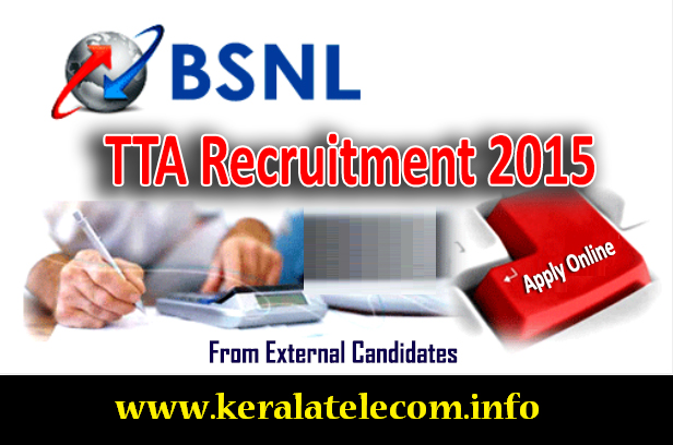 'BSNL TTA Recruitment 2015' from External Candidates: 147 vacancies for Engineering Degree / Diploma holders