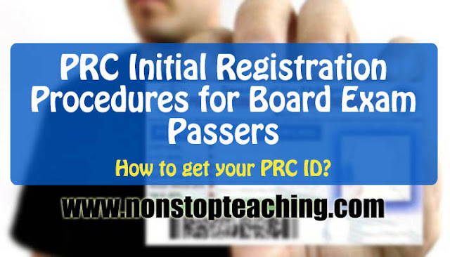 PRC Initial Registration Procedures for Board Exam Passers