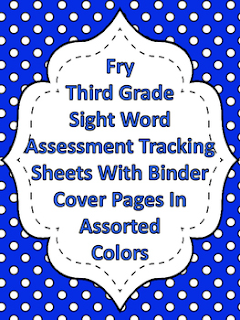 Fry Third Grade Sight Word Tracking Binder