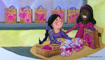 Valentine's Day illustration by Cheryl Kugler