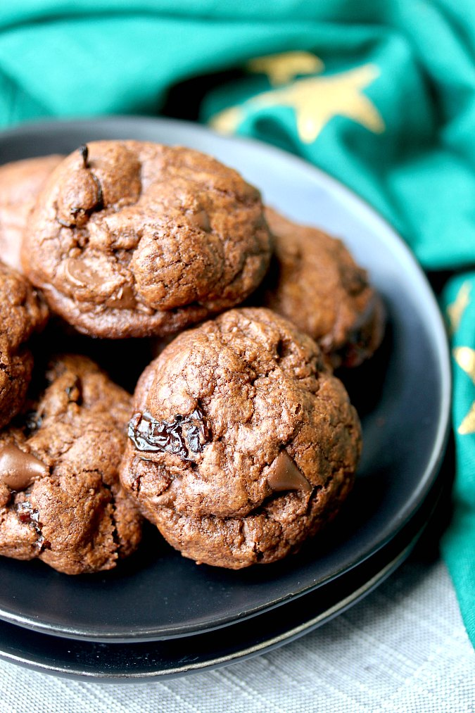 Chocolate Chip and Cherry Chunk Cookies {Small Batch}