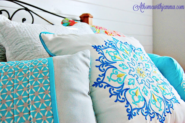French country decor, bright, cheery, blue, country, cozy, happy