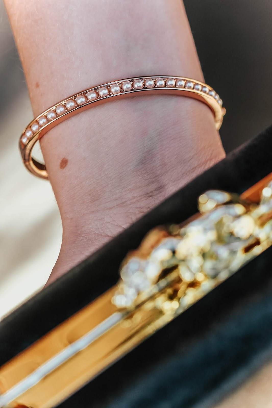 Ted Baker Jewellery Clemara Faux Pearl Bangle Fashion Blog