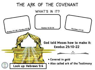 http://www.biblefunforkids.com/2017/05/ark-of-covenant-worksheet.html