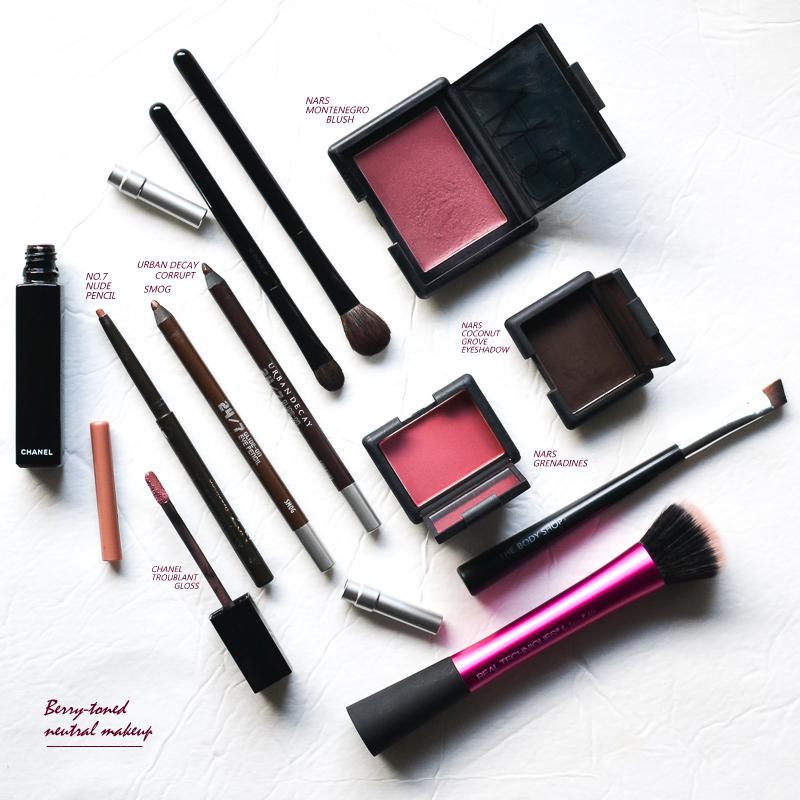 Fall Winter Makeup Look - NARS Grenadines - Coconut Grove - Montenegro - Urban Decay Smog - Corrupt - Chanel Troublant