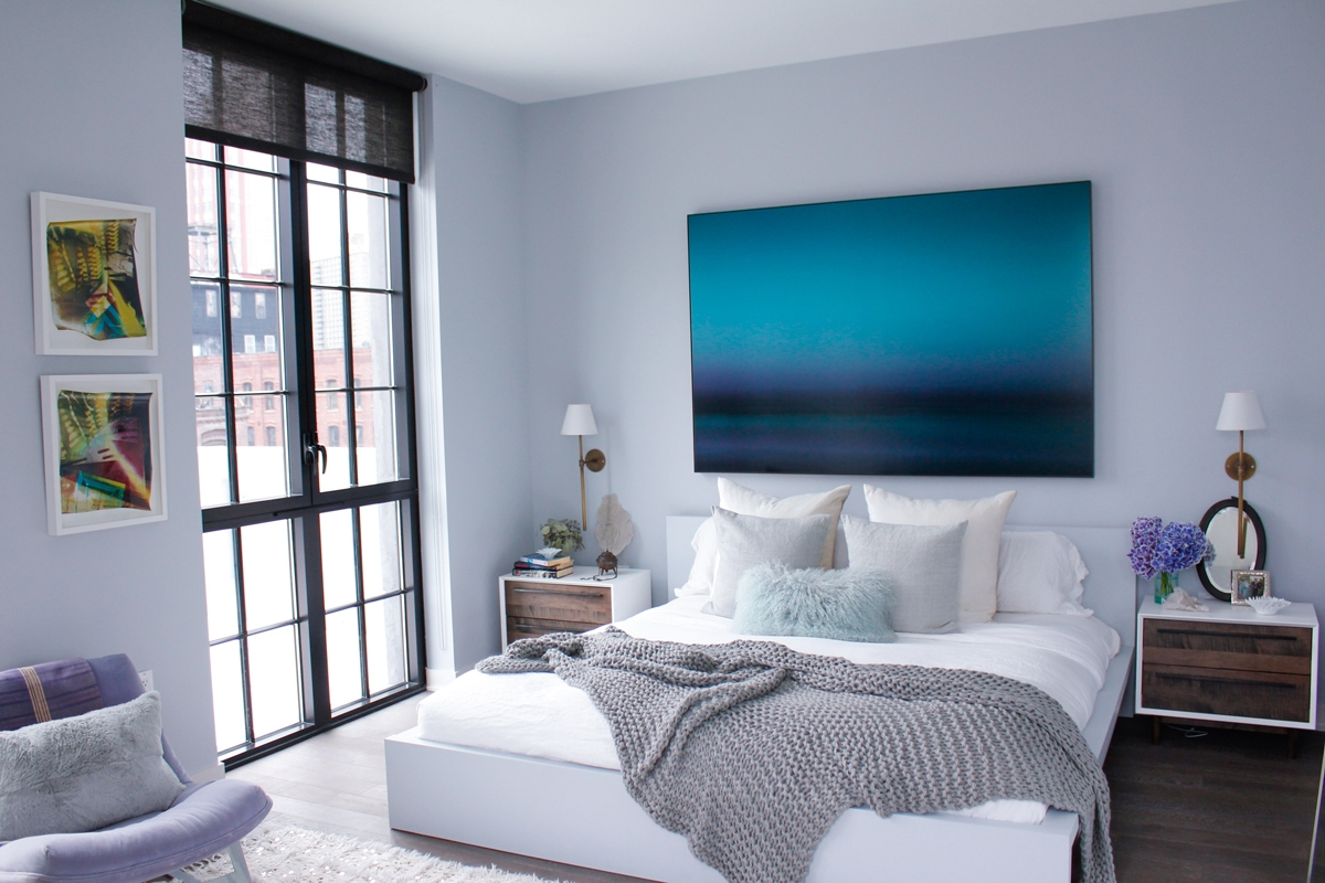 Bedroom Grey Walls Fade To Blue Cococozy