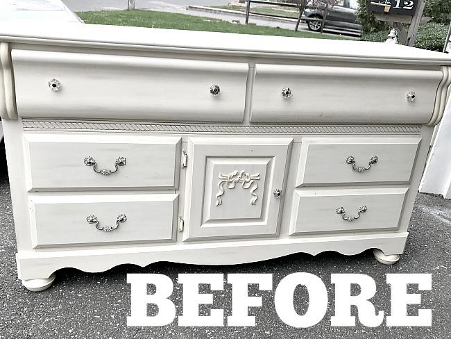 white found dresser