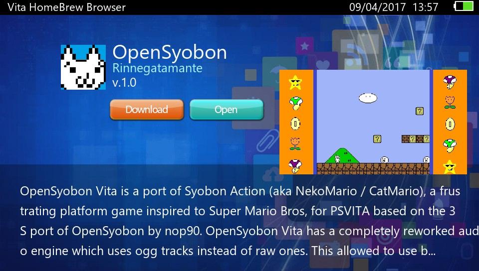 PS Vita Homebrew Browser v0 8 ( by devnoname120 & arkanite