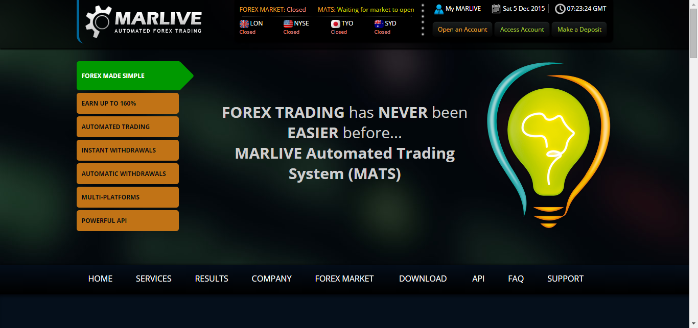 Marlive automated forex trading