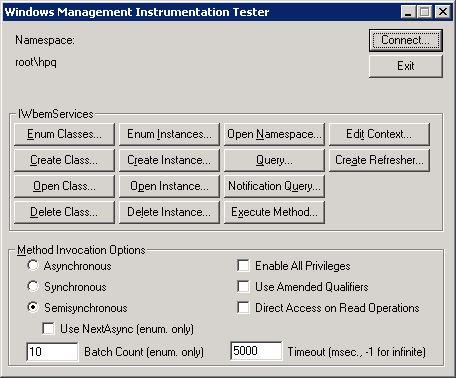 John Willis: HP SIM, WBEMTest Indications using WMIC