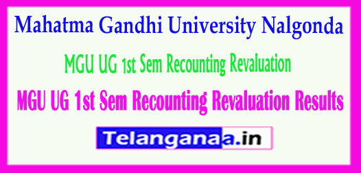 MGU UG Mahatma Gandhi University UG 1st Sem Recounting Revaluation Results 2018