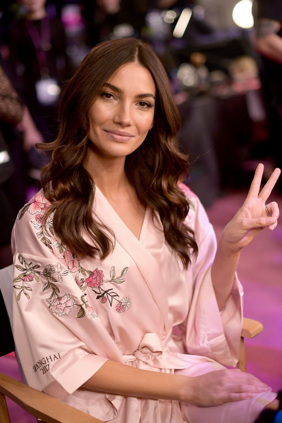 Lily Aldridge on the Backstage at 2017 Victoria's Secret Fashion Show in Shanghai