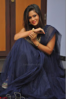 Shilpa Chakravarthy anchor and actress in anarkali dress  Exclusive 003.JPG