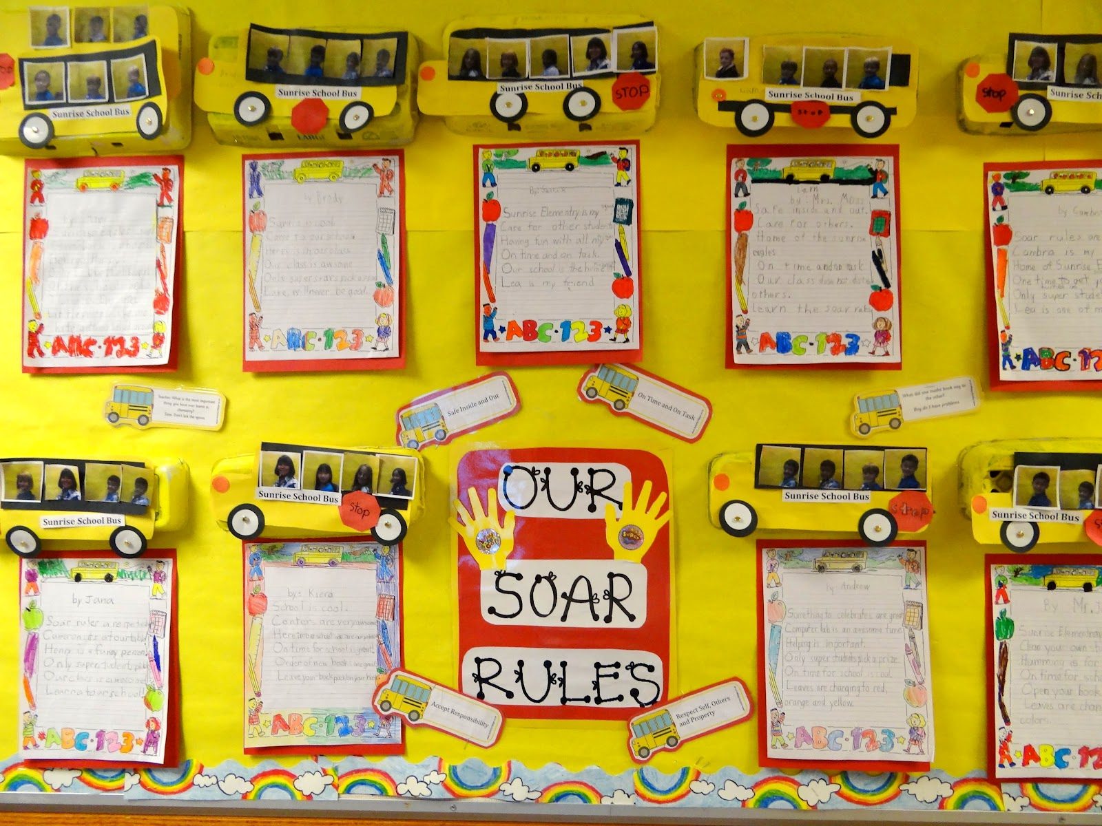 Patties Classroom Rules Of The School School Bus Project