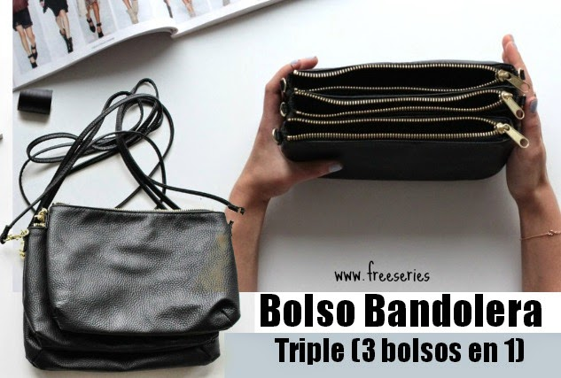 Bolso Bandolera Triple Diy Tutorial