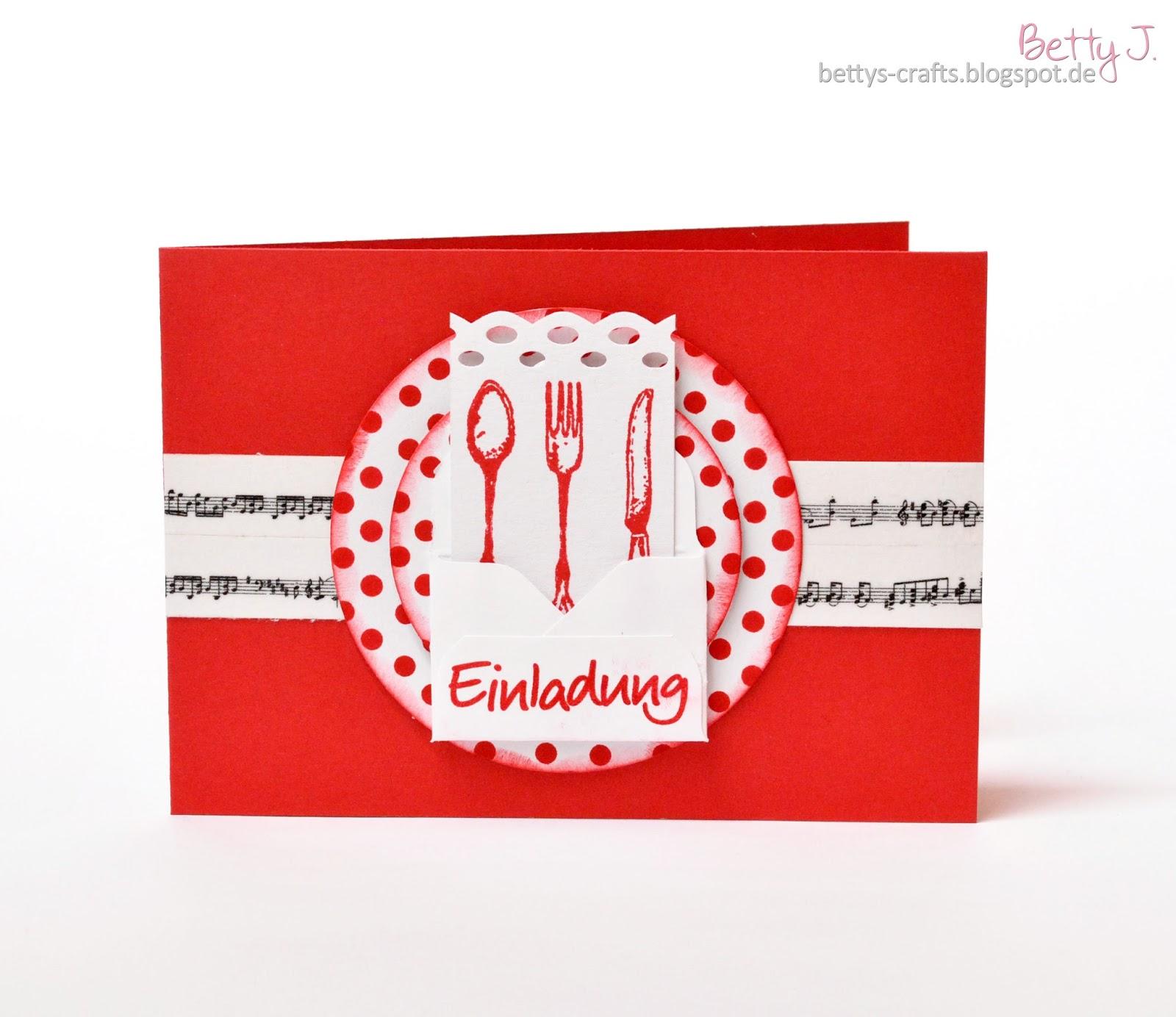 Bettys Crafts: Einladung zum Essen