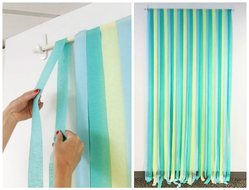 12 ideas fabulosas que te ayudaran a decorar tu fiesta con for Decoracion de papel crepe