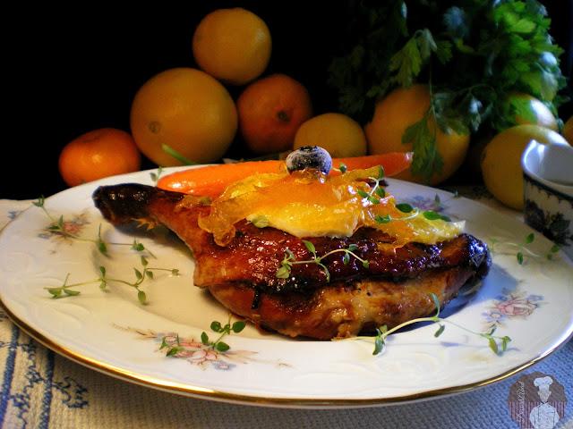 Pato confitado a la naranja