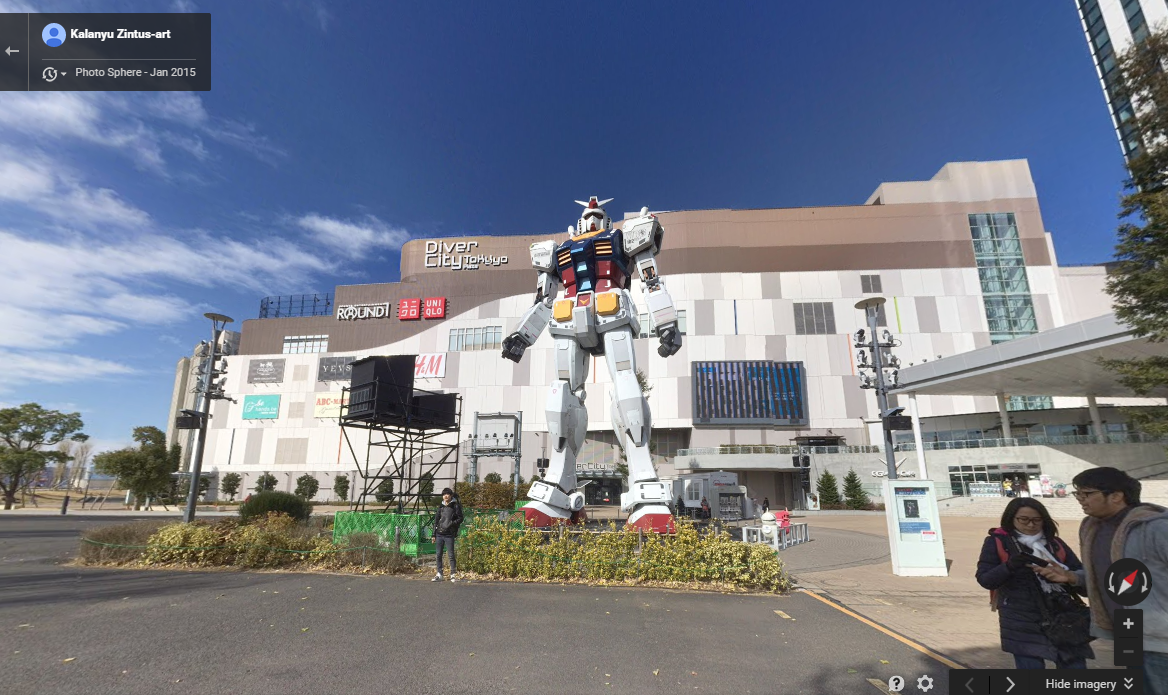 RX 78-2 Gundam Life Size Statue in Odaiba, Japan - image from Google Maps
