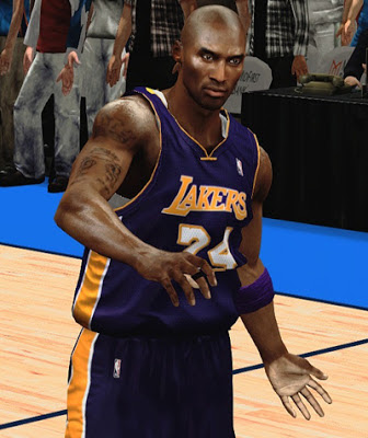 NBA 2K13 Kobe Bryant Bald Shaved Hair Cyberface Patch