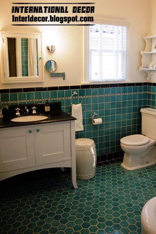 Turquoise Bathroom Interior
