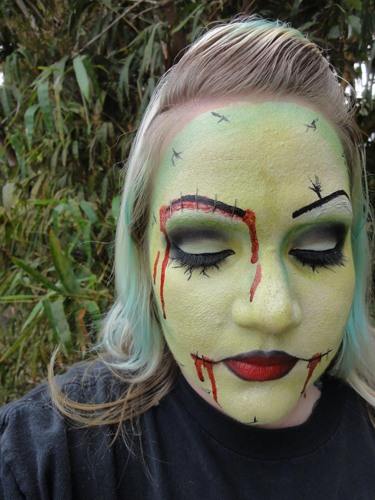 Matte Lipgloss: Kim's Makeup Blog: Pin-up Zombie Tutorial