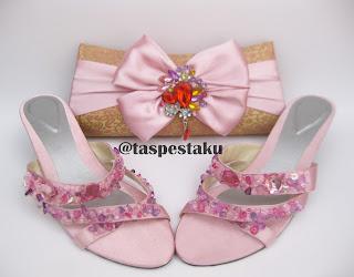 Baby Pink Sepatu dan Tas Pesta Matching Handmade