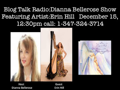 Empowering and Inspiring Women Globally- White Christmas, Harpist Erin Hill 12/15 by DiannaBelleRose | Entertainment Podcasts