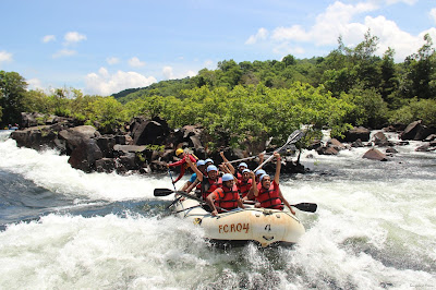 Exhilarated water rafting, Dandeli