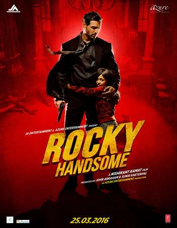 Poster Of Rocky Handsome 2016 Hindi 700MB DVDScr Xvid Free Download Watch Online