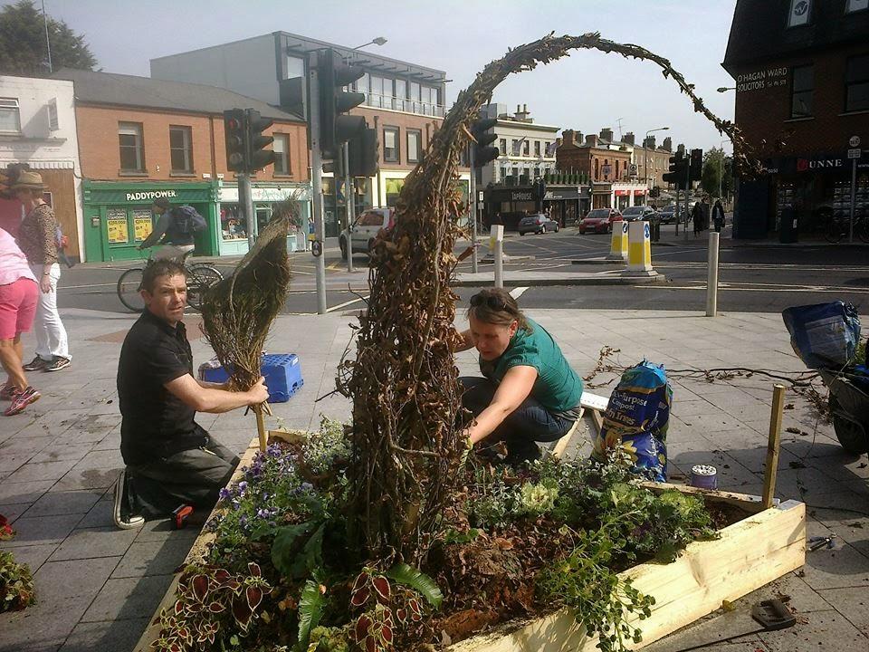 Ciaran Burke and Hanna Tuuri making Scoodoos in Ranelagh
