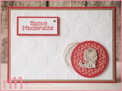 Stampin' Up! rosa Mädchen Kulmbach: Babykarten mit großen Punkten, Zum Nachwuchs und Gut gewappnet