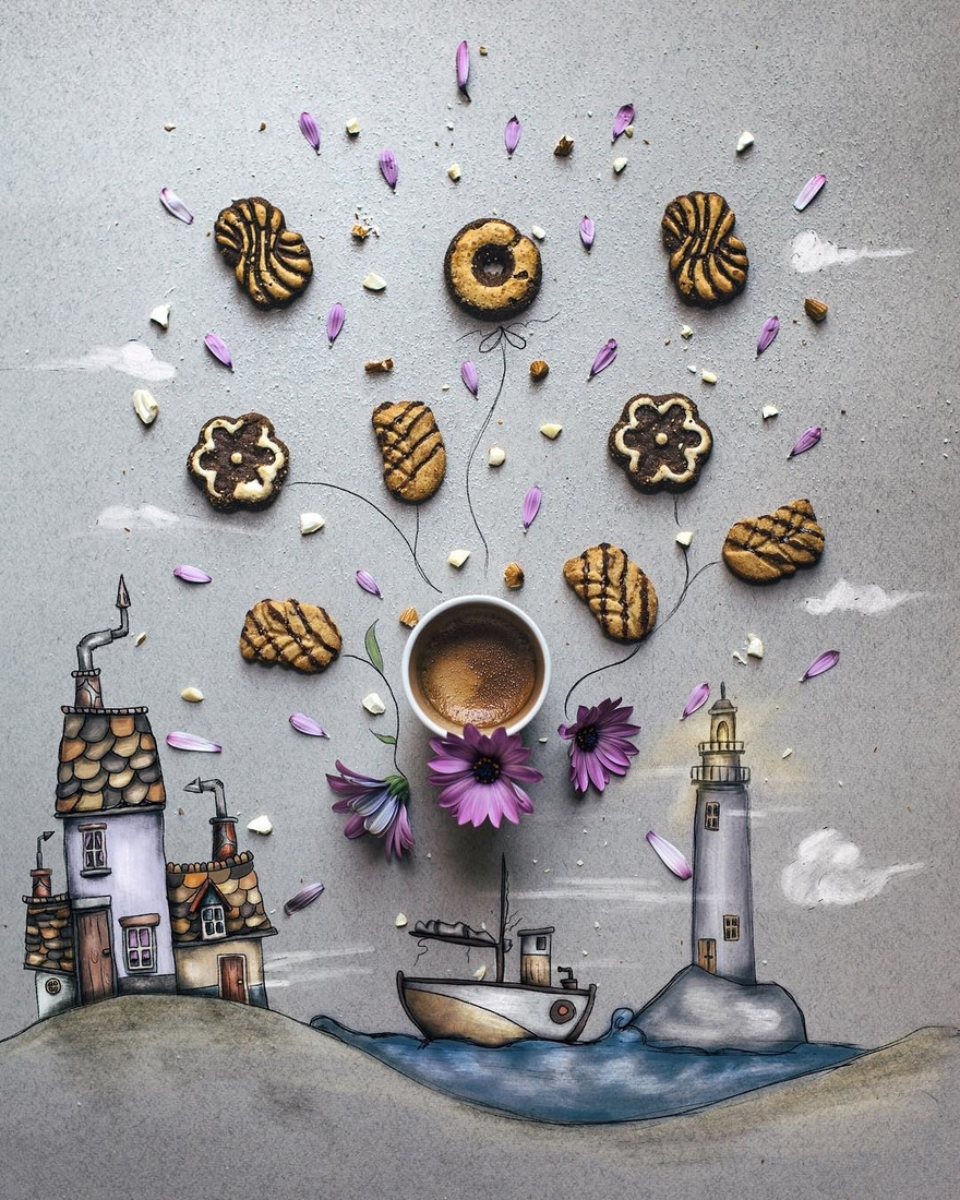 01-The-Lighthouse-Cinzia-Bolognesi-The-Coffee-Rituals-and-Illustrated-Compositions-www-designstack-co