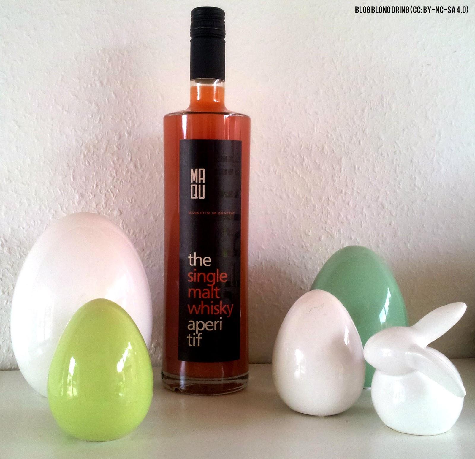blog blong dring: MAQU - The Single Malt Whisky Aperitif (12% Vol.)