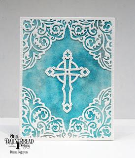 Our Daily Bread Designs Custom Dies:Lacey Corners, Ornamental Crosses