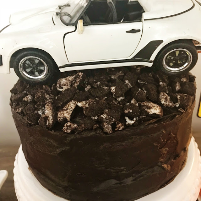Porsche Car Cake at a 16th Birthday Party @michellepaigeblogs.com