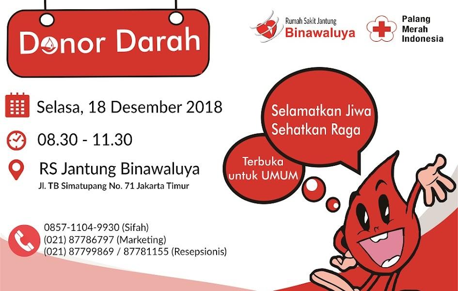 Donor Darah Rumah Sakit Jantung Binawaluya