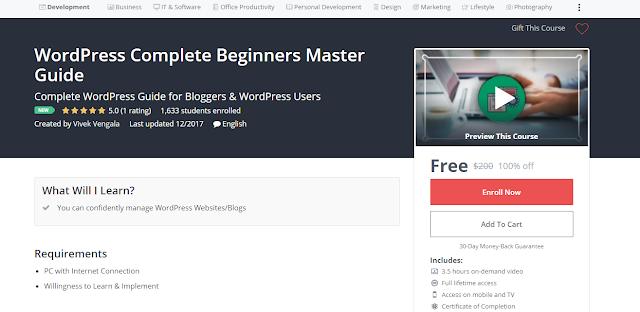 WordPress Complete Beginners Master Guide