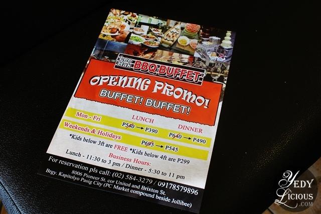 Buffet Rate at Lee Hak Korean Buffet