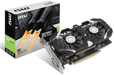 MSI GeForce GTX 1050 2GT Dual Fan OC