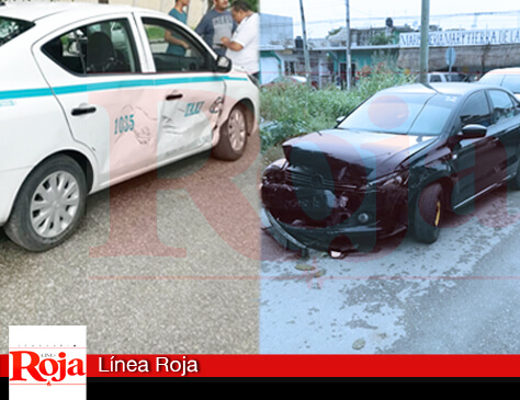 Se registra aparatoso accidente en la colonia Bellavista