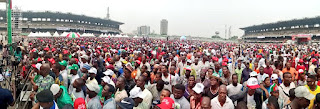 Pictures of Mammoth Crowds that Attended Atiku Rally in Lagos State.