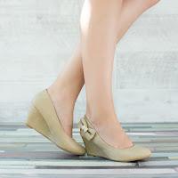 Pantofi dama Catherine khaki cu talpa ortopedica • modlet
