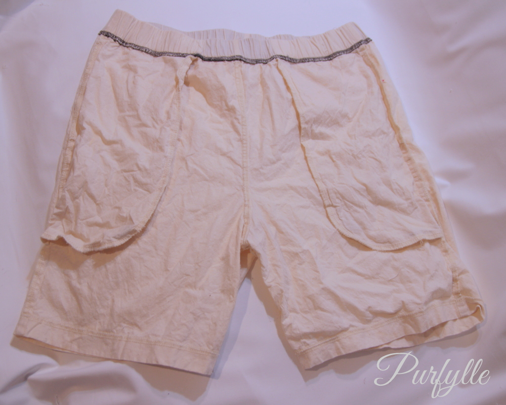 calico shorts inside out