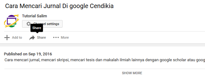 Video youtube ke blogger