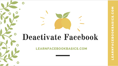How To Deactivate My Facebook Account On Mobile Device