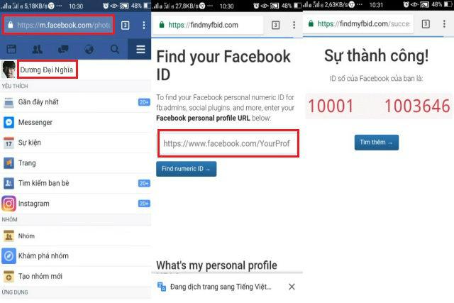 cách lấy id facebook 6